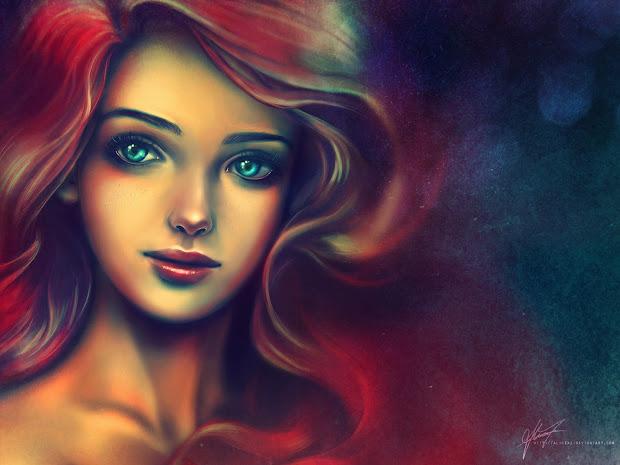 Ariel Disney Princess Realistic Art