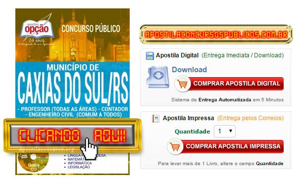 Apostila Concurso Prefeitura de Caxias do Sul 2017 PDF Download