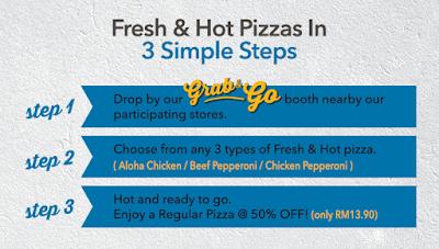 Domino's Pizza Malaysia Grab & Go Half Price Promo