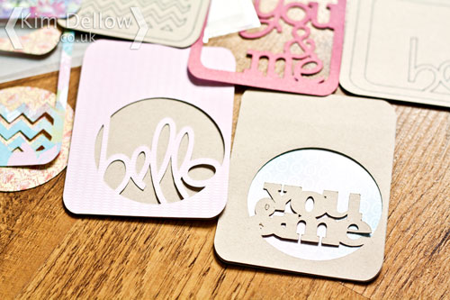 Journaling cards made with the Cricut Explore