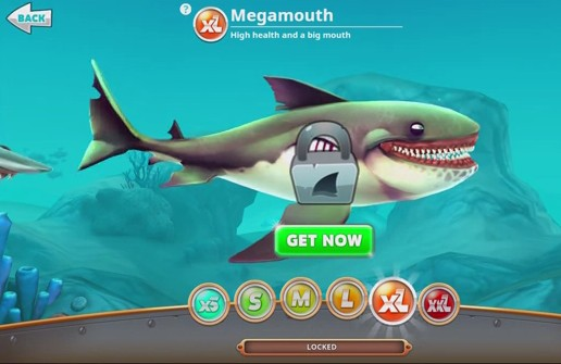 cara cheat hungry shark world