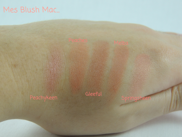 revue avis test blush mac swatch