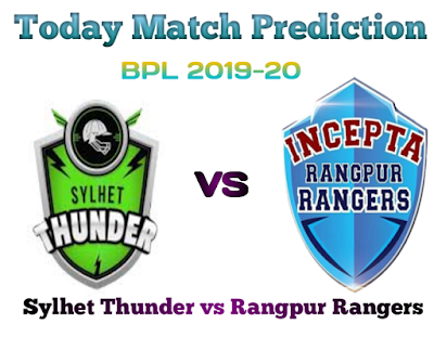SYL vs RAN-Today Match Prediction-BPL 2019-20-Who Will Win Today Match