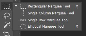 Marque Tool Toolbox Adobe Photoshop