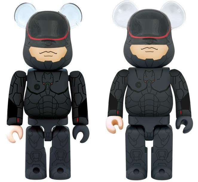 RoboCop 100% & 400% Be@rbrick Vinyl Figures by Medicom