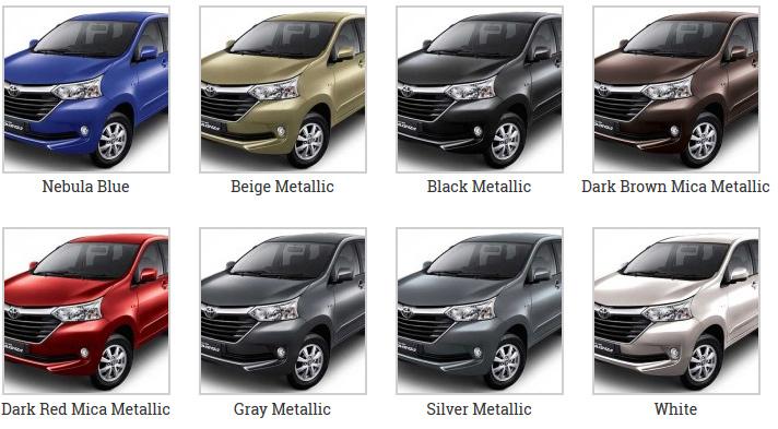 grand new avanza warna all toyota camry thailand 2015 dealer info harga promo dan kredit spesifikasi