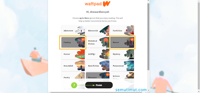 cara daftar wattpad surel