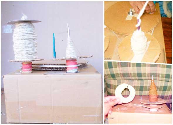 ruecas, cartón, madera, inventos, construcción, telares, vintage, manualidades