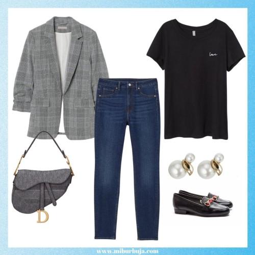 Outfit básicos del closet con mocasines