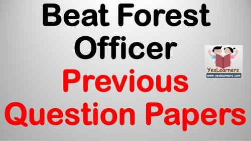 Beat Forest Officer - Previous Question Papers
