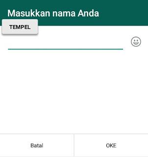 Nama Whatsapp Blank