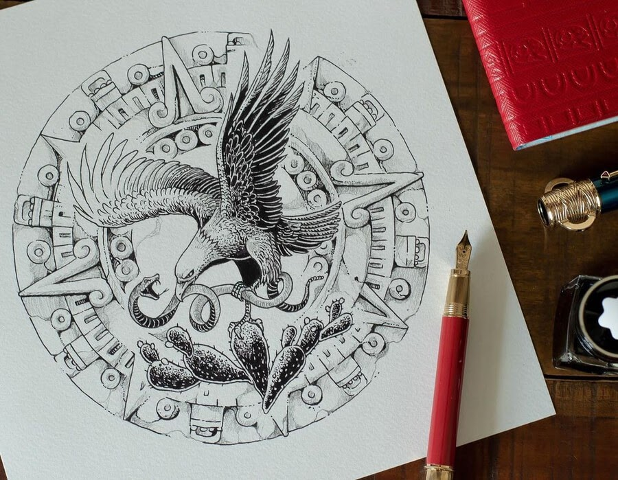 10-The-eagle-and-the-snake-Kerby-Rosanes-www-designstack-co