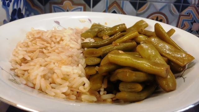 Green beans stew (loubyeh w rez)