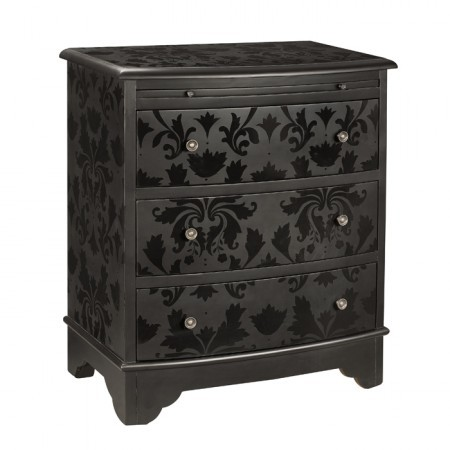 Not A New Dresser But Great Repainting Idea Black On Paint With Matte And Then Stencil Design Gloss