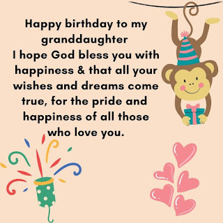 special birthday wishes for granddaughter