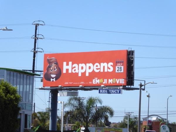 Emoji Movie Poop happens billboard