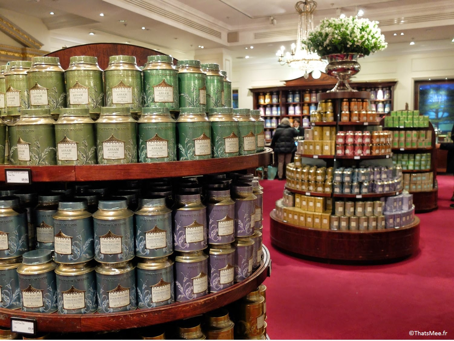 thé étalage grand magasin Fortnum and Mason Londres