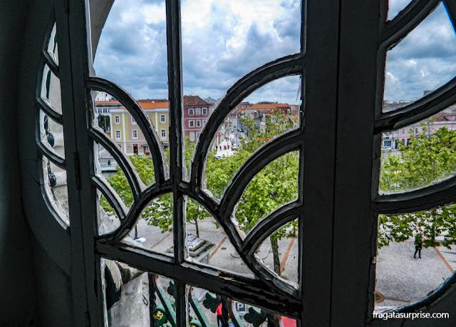 Aveiro vista do balcão Art Nouveau Museu da Cidade