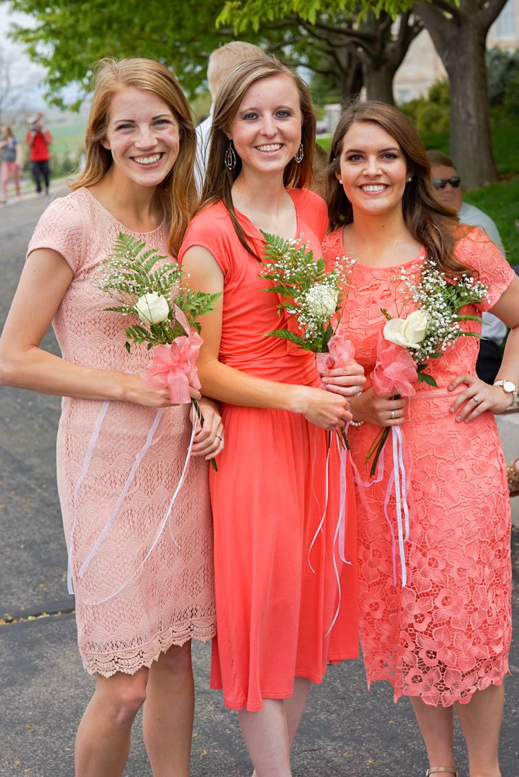 Mismatched Blush Bridesmaids