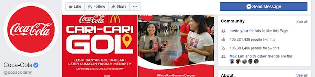 Coca Cola's Global FB Page