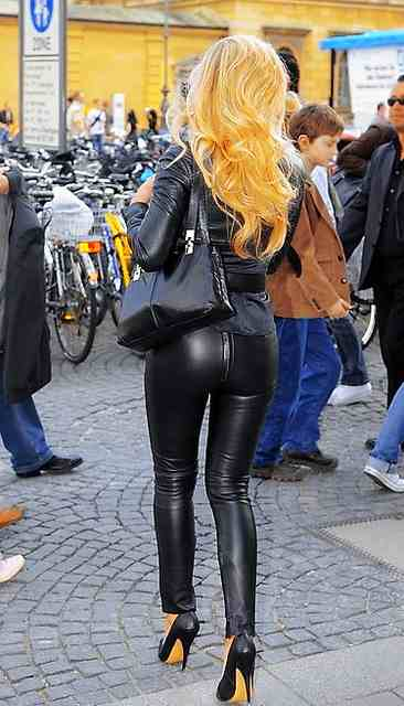 With tight leather ass can believe