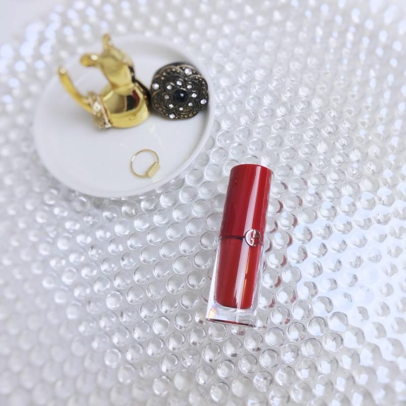 Giorgio Armani Lip Magnet 401 Scarlatto review swatch