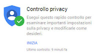 Controllo privacy account Google, ricerche e dati personali