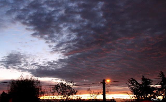 Ciel d'un matin d'hiver