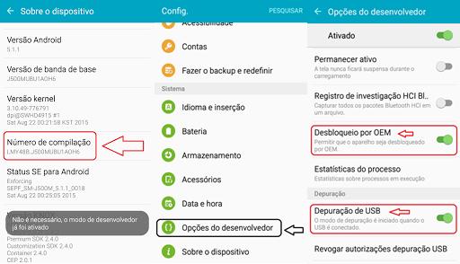 Resultado de imagem para OEM, em Configurações> Opções do desenvolvedor.