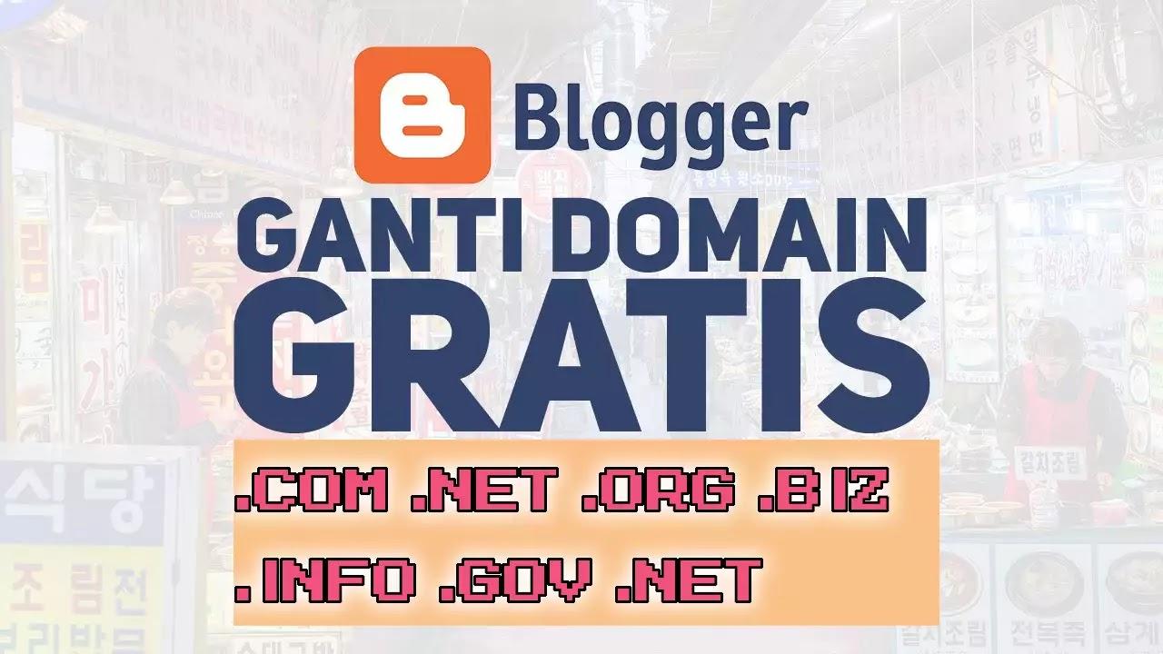 tutorial cara rubah nama domain blogspot ke .com dengan benar