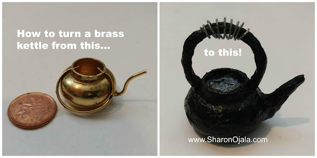tutorial miniature brass kettle into cast iron kettle