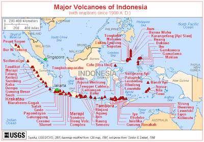 Gambar  Peta Persebaran Gunung Api di Indonesia