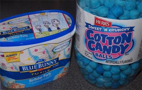 Blue Bunny Birthday Party Ice Cream