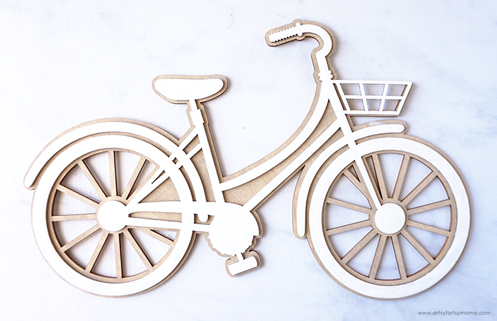 Painted Wooden Bicycle