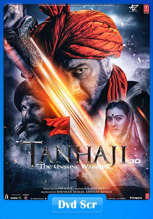 Tanhaji The Unsung Warrior 2020 Hindi 720p HQ DVDScr x264 | 480p 300MB | 100MB HEVC