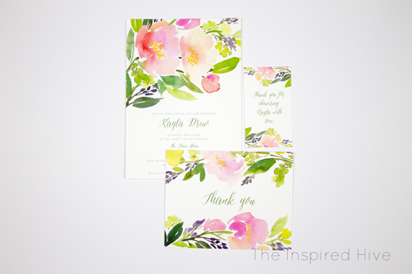 Beautiful floral bridal shower invitations perfect for a garden themed shower