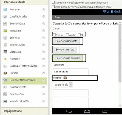 Form e salvataggio dati (Mit App Inventor 2)