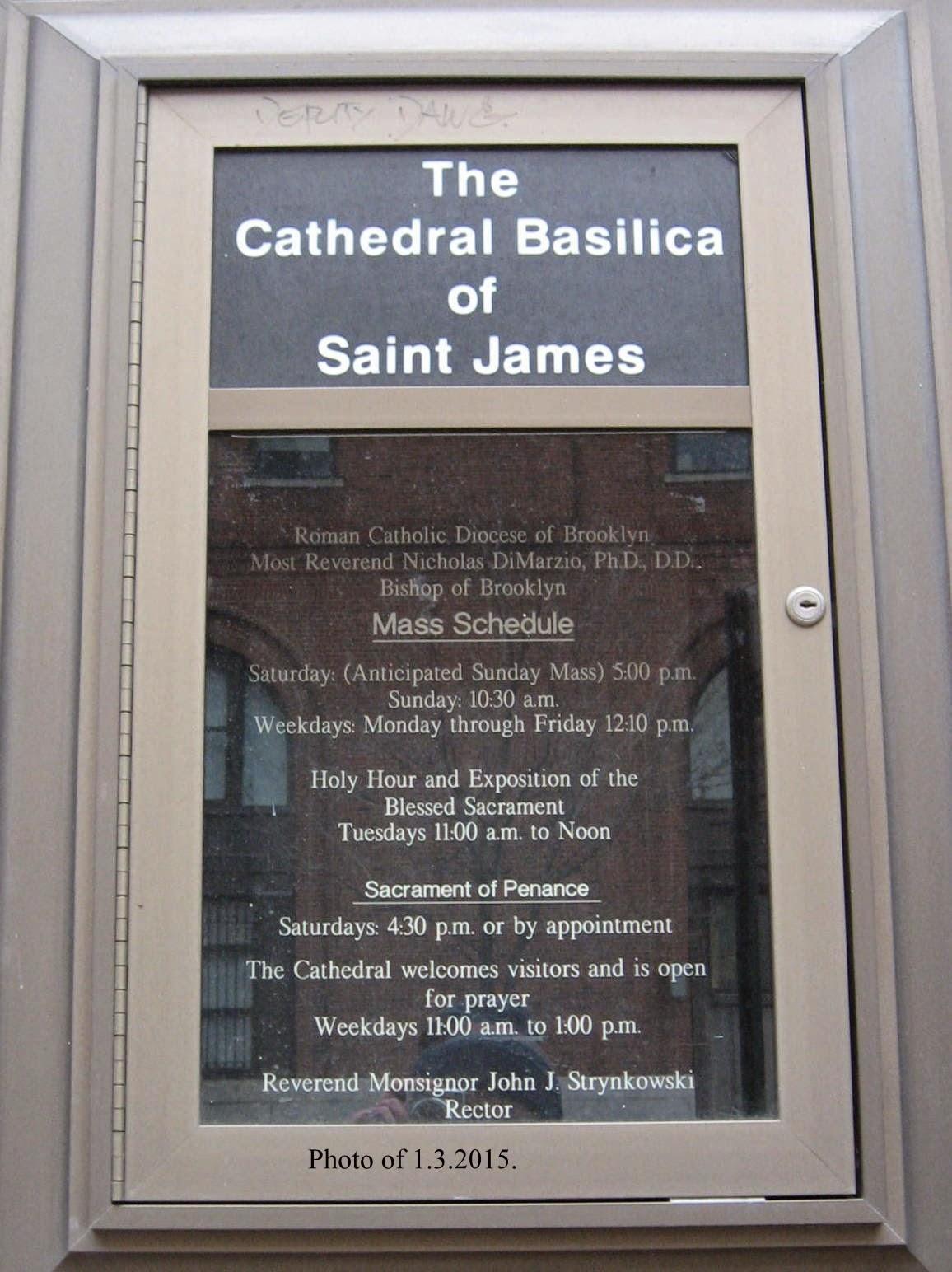 Brooklyn Catholic: St James Cathedral, Jay Street