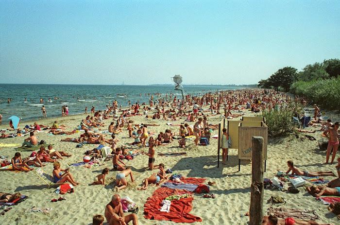Gdansk, plage, © L. Gigout, 1990