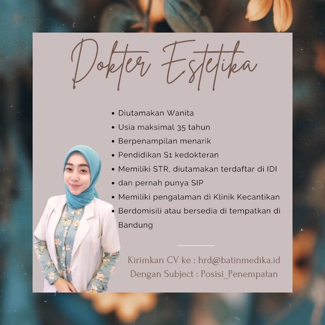 Loker Dokter ESTETIKA Bandung