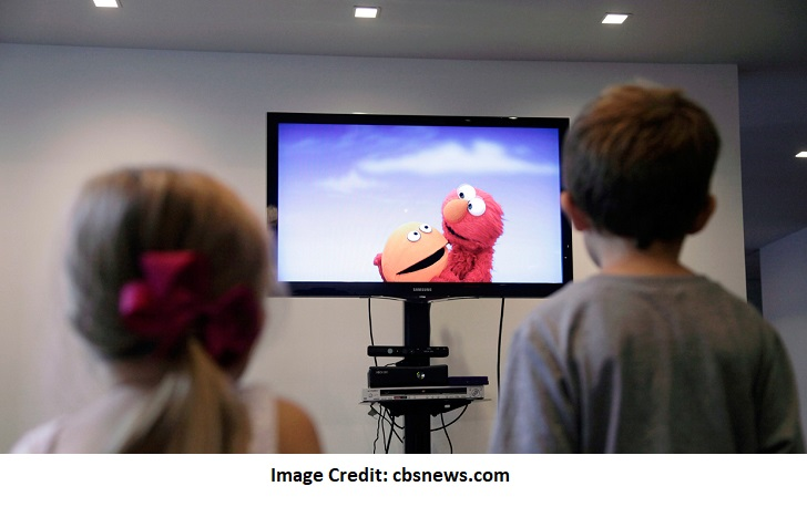 Kids watching TV Shows