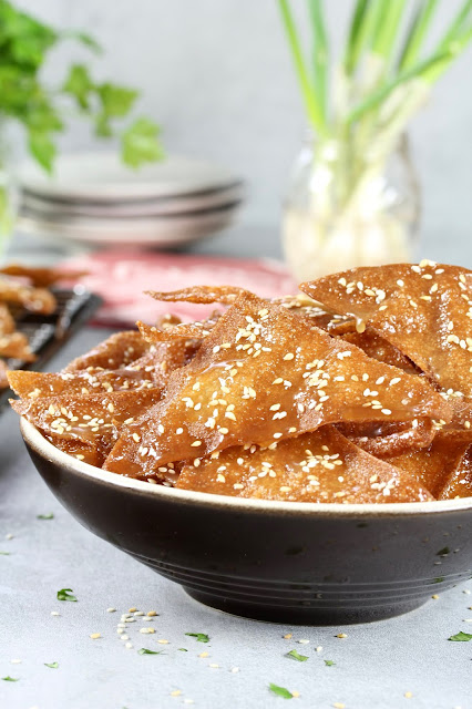 Honey Glazed Fried Wontons