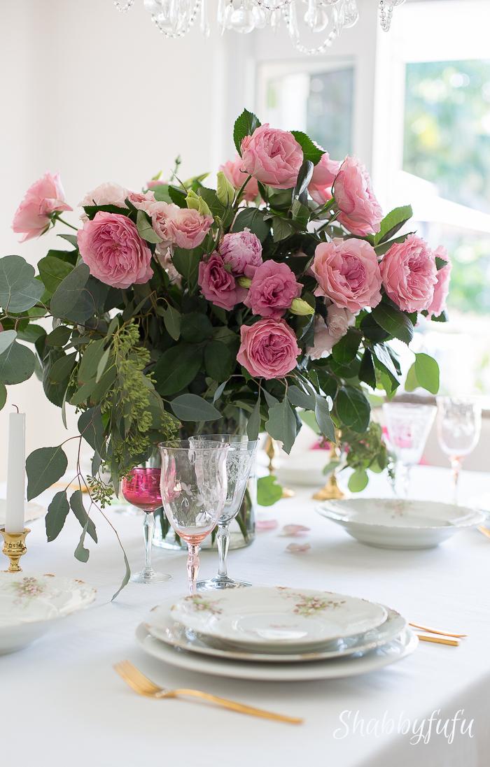 tablesetting-david-austin-roses