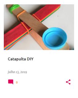 Instruções para fazer uma catapulta usando paus de gelado