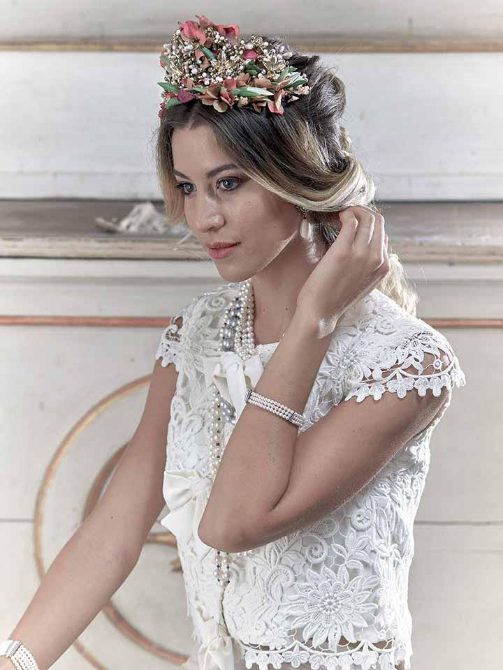peinado para novia civil 2020
