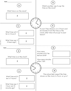 Elapsed Time Worksheet Example