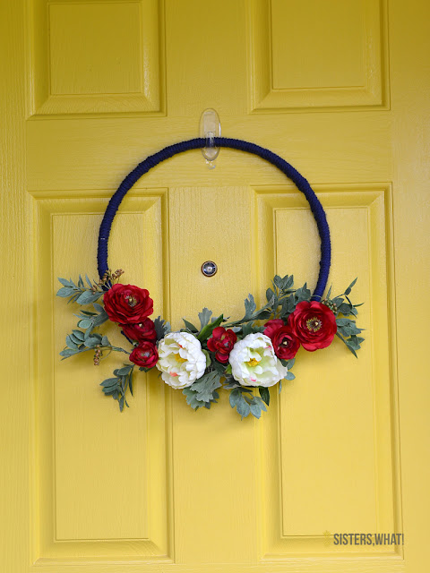 modern fourth of july wreath