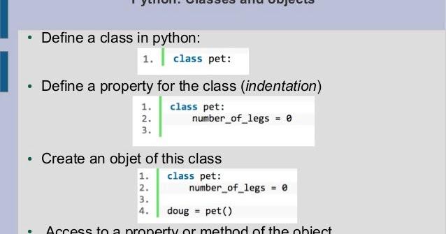 Python Classes - Web Development and Design | Tutorial for