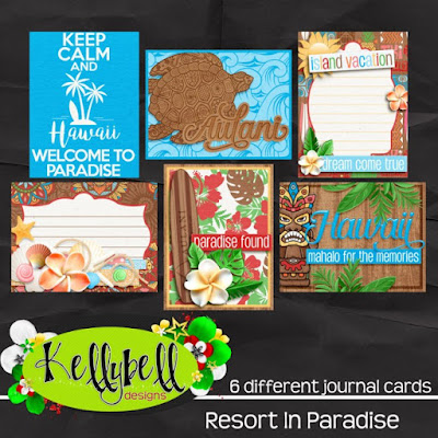 Resort in Paradise Journal Cards
