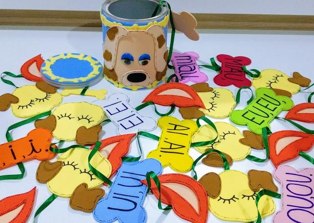 Batatinha aprende a latir, Poema Infantil, batatinha, cachorro, latir, história na lata, EVA, hora do conto, história, Sergio Caparelli, escola, alfabetização, sala de aula
